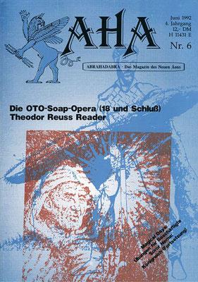 AHA. 4. Jhg., Nr. 6 (= Juni 1992).