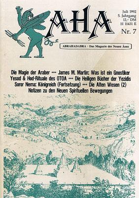 AHA. 5. Jhg., Nr. 7 (= Juli 1992).