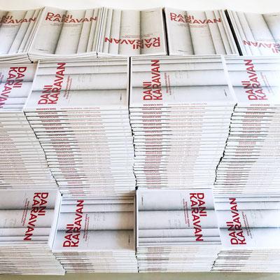 Unsere Kataloge wurden punktgenau am Morgen der Vernissage angeliefert.