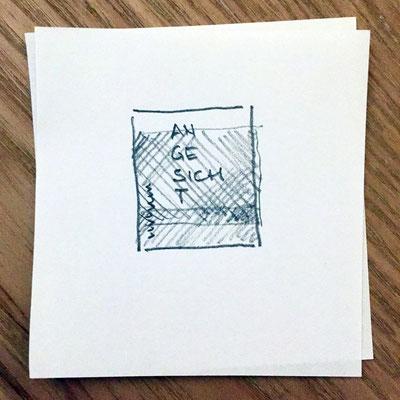 Eine der ersten Skizzen zum Buchtitel