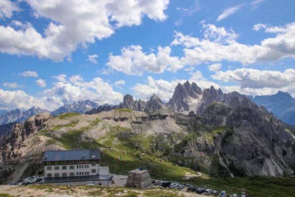 Start an der Auronzo Hütte