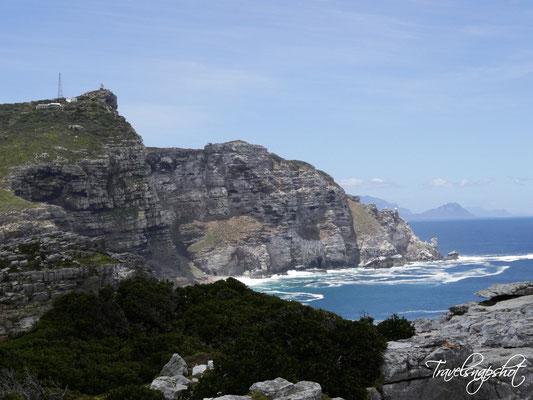 Blick vom Kap der guten Hoffnung zum Cape Point