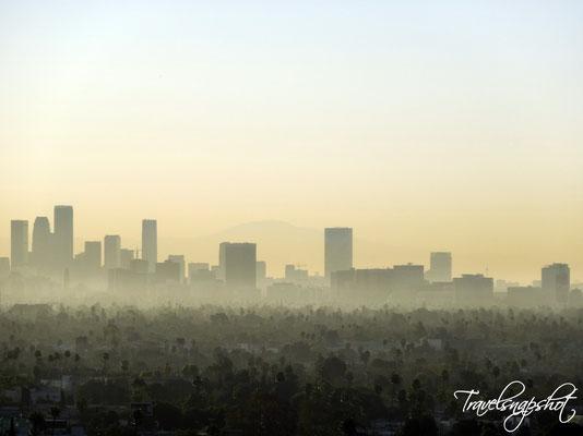 Blick vom Hotelzimmer nach LA Downtown