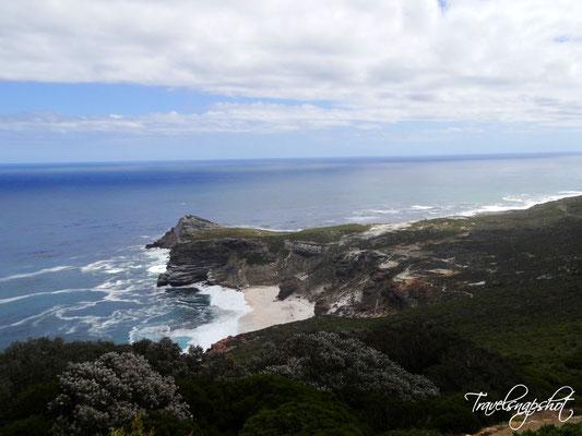 Blick vom Cape Point zum Kap der guten Hoffnung