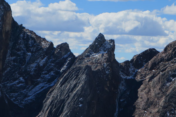 Cerro Mexico, ein scharfer Felsgrat.