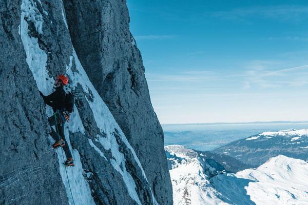 Eisschlauch, Eiger N-Wand