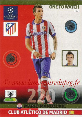 2014-15 - Adrenalyn XL champions League N° 061 - Mario MANDZUKIC (Atletico Madrid) (One to Watch)