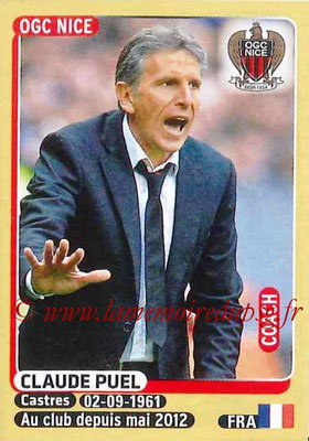 2015-16 - Panini Ligue 1 Stickers - N° 318 - Claude PUEL (OGC Nice) (Coach)