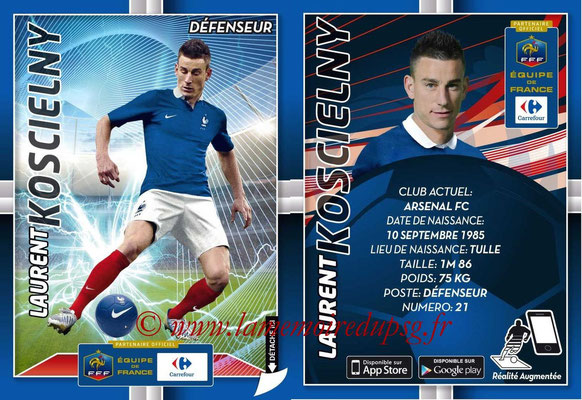 WC 2014 Collection Carrefour 3D Bleus - N° 07 - Laurent KOSCIELNY (Arsenal FC)