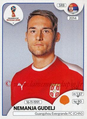 2018 - Panini FIFA World Cup Russia Stickers - N° 427 - Nemanja GUDELJ (Serbie)