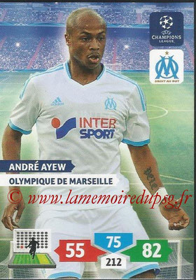 2013-14 - Adrenalyn XL champions League N° 215 - André AYEW (Olympique de Marseille)