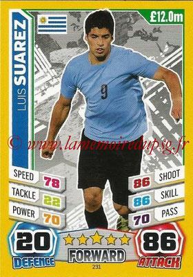Topps Match Attax England 2014 - N° 231 - Luis SUAREZ (Uruguay)