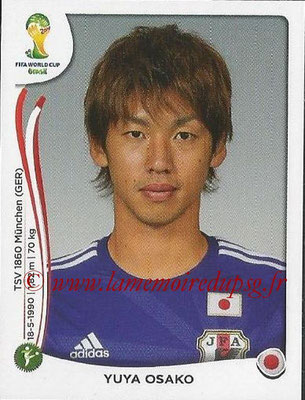2014 - Panini FIFA World Cup Brazil Stickers - N° 259 - Yuya OSAKO (Japon)