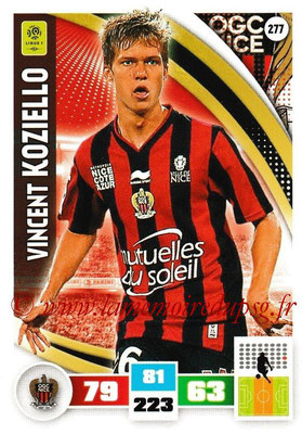 2016-17 - Panini Adrenalyn XL Ligue 1 - N° 277 - Vincent KOZIELLO (Nice)