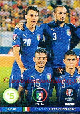Panini Road to Euro 2016 Cards - N° 124 - Equipe Italie 1
