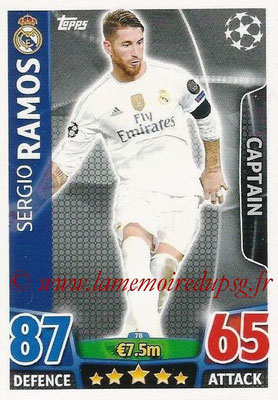 2015-16 - Topps UEFA Champions League Match Attax - N° 078 - Sergio RAMOS (Real Madrid CF) (Captain)