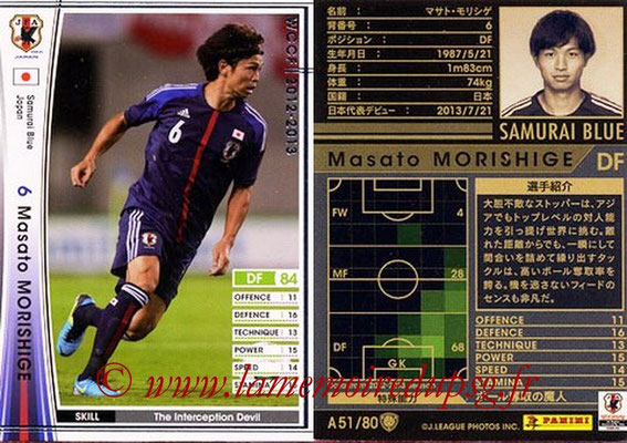 2012-13 - WCCF - N° A51 - Masao MORISHIGE (Japon)