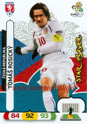 Panini Euro 2012 Cards Adrenalyn XL - N° 008 - Tomas ROSICKY (République Tchèque) (Star Player)