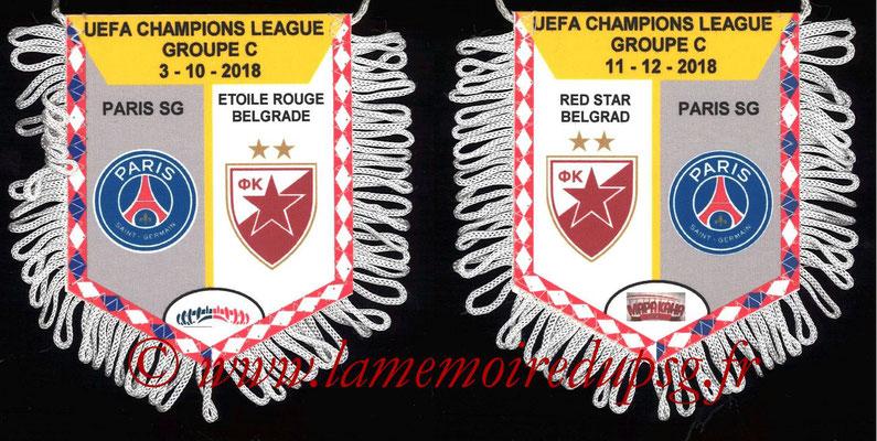 Fanion  PSG-Etoile Rouge de Belgrade  2018-19