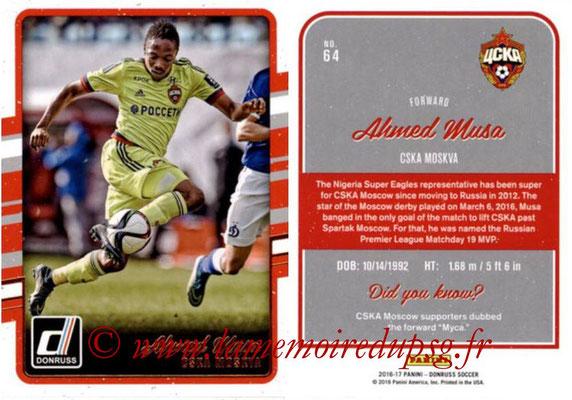 2016 - Panini Donruss Cards - N° 064 - Ahmed MUSA (CSKA Moscou)