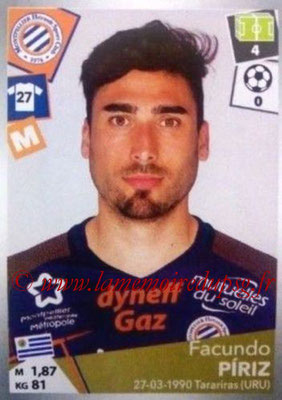 2017-18 - Panini Ligue 1 Stickers - N° 296 - Facundo PIRIZ (Montpellier)