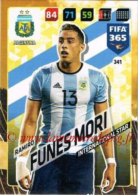 2017-18 - Panini FIFA 365 Cards - N° 341 - Ramiro FUNES MORI (Argentine) (International Star)