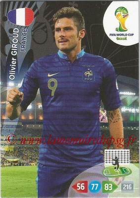 2014 - Panini FIFA World Cup Brazil Adrenalyn XL - N° 167 - Olivier GIROUD (France)