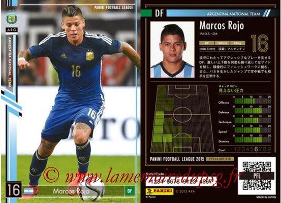 Panini Football League 2015 - PFL13 - N° 087 - Marcos ROJO (Argentine)
