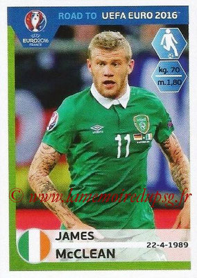 Panini Road to Euro 2016 Stickers - N° 155 - James MCCLEAN (Eire)