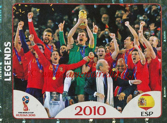 2018 - Panini FIFA World Cup Russia Stickers - N° 679 - Espagne 2010 (FIFA World Cup Legends)