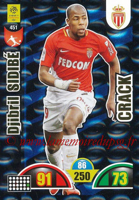 2018-19 - Panini Adrenalyn XL Ligue 1 - N° 451 - Djibril SIDIBE (Monaco) (Crack)