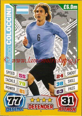 Topps Match Attax England 2014 - N° 005 - Fabricio COLOCCINI (Argentine)