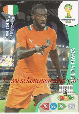 2014 - Panini FIFA World Cup Brazil Adrenalyn XL - N° 098 - Yaya TOURE (Côte d'Ivoire) (Utility Player)