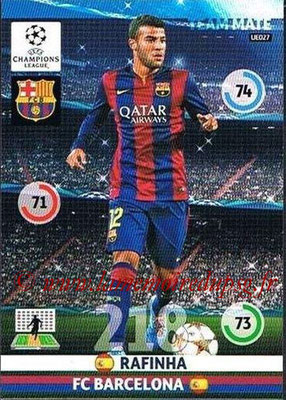 2014-15 - Adrenalyn XL champions League Update edition N° UE027 - RAFINHA (FC Barcelone)