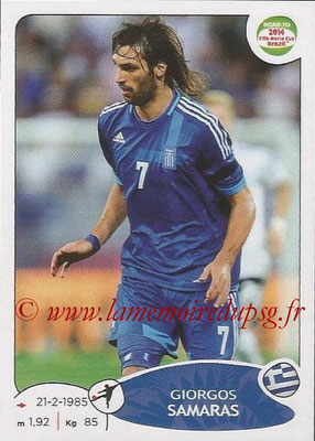 2014 - Panini Road to FIFA World Cup Brazil Stickers - N° 284 - Giorgos SAMARAS (Grèce)