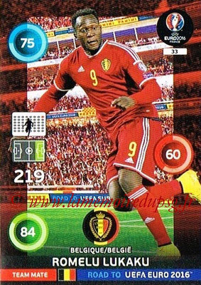 Panini Road to Euro 2016 Cards - N° 033 - Romelu LUKAKU (Belgique)