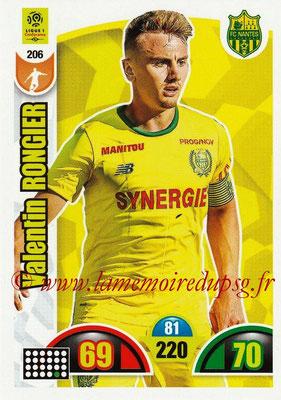 2018-19 - Panini Adrenalyn XL Ligue 1 - N° 206 - Valentin RONGIER (Nantes)