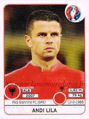 Panini Euro 2016 Stickers - N° 075 - Andi LILA (Albanie)