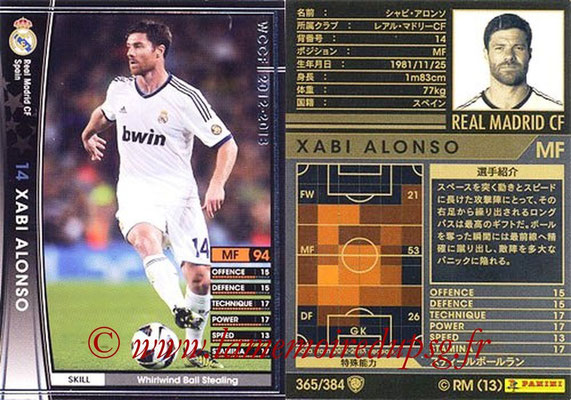 2012-13 - WCCF - N° 365 - Xabi ALONSO (Real Madrid CF)