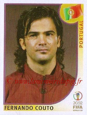 2002 - Panini FIFA World Cup Stickers - N° 300 - Fernando COUTO (Portugal)