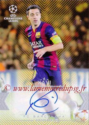 2015-16 - Topps UEFA Champions League Showcase Soccer - N° CLA-X - XAVI (FC Barcelone) (Base Autographs Cards)
