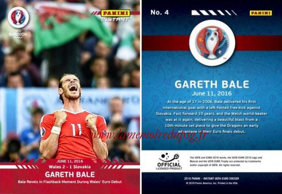Panini Instant Euro 2016 - N° 004 - Gareth BALE