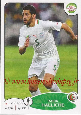 2014 - Panini Road to FIFA World Cup Brazil Stickers - N° 371 - Rafik HALLICHE (Algérie)