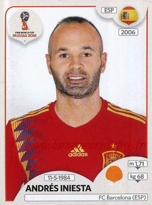 2018 - Panini FIFA World Cup Russia Stickers - N° 146 - Andrés INIESTA (Espagne)