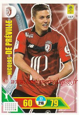 2017-18 - Panini Adrenalyn XL Ligue 1 - N° 117 - Nicolas DE PREVILLE (Lille)