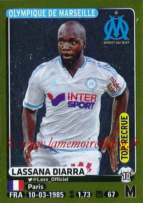 2015-16 - Panini Ligue 1 Stickers - N° 240 - Lassana DIARRA (Olympique de Marseille) (Top recrue)