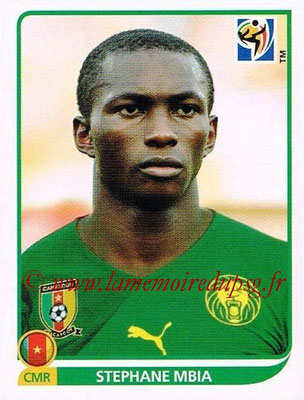 2010 - Panini FIFA World Cup South Africa Stickers - N° 400 - Stephane MBIA (Cameroun)