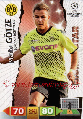 2011-12 - Panini Champions League Cards - N° 076 - Mario GÖTZE (Borussia Dortmund) (Rising Star)