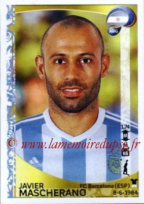 Panini Copa America Centenario USA 2016 Stickers - N° 314 - Javier MASCHERANO (Argentine)