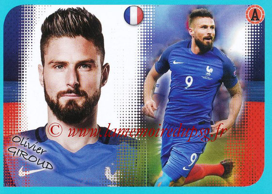 2016-17 - Panini Ligue 1 Stickers - N° P18 - Olivier GIROUD (Poster Equipe de France)